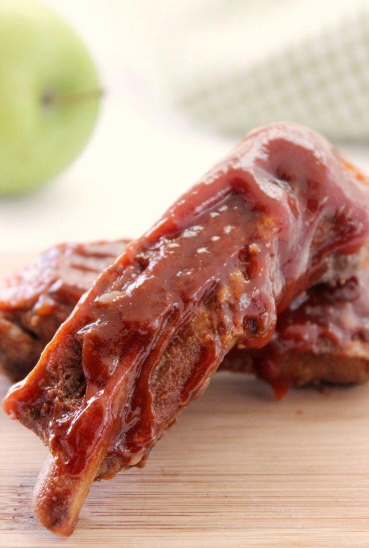 Applesauce BBQ Slow Cooker Spareribs