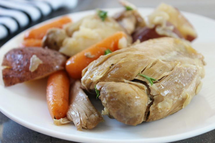 Crock Pot Chicken Thighs with Potatoes & Carrots