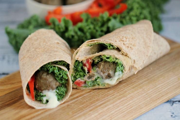 Mediterranean Meatball Wrap