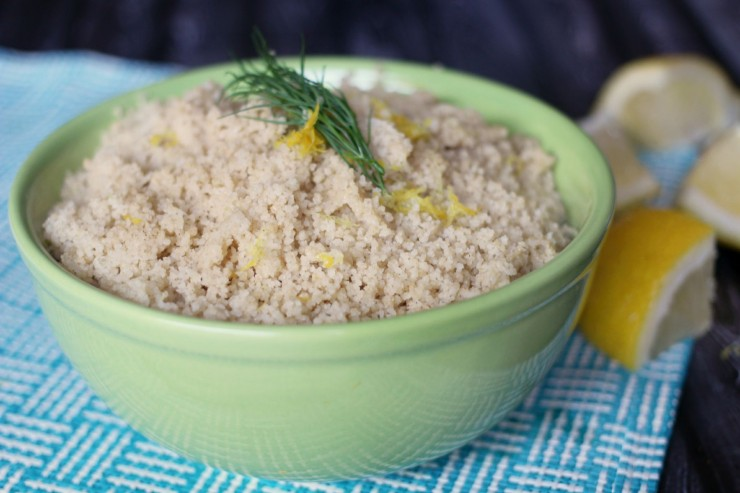 This Lemon Dill Couscous recipe is simple and delicious, a perfect and healthy side dish!