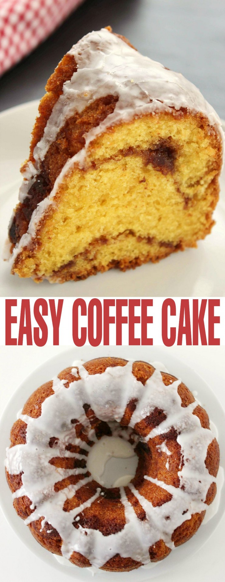 You won't believe just how easy this coffee cake recipe is to whip up.  This is a coffee cake recipe literally anyone can follow.