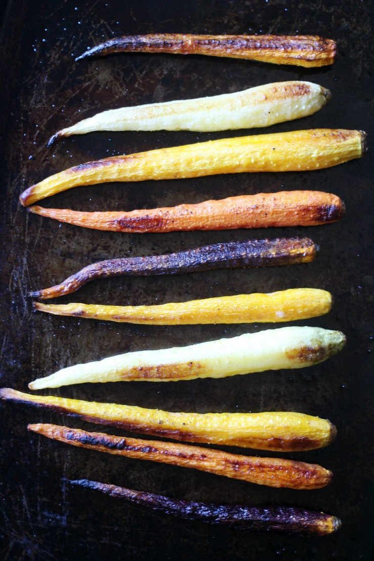 These Roasted Rainbow Carrots are a simple and delicious vegetable side dish.  Everyone will love this healthy recipe!