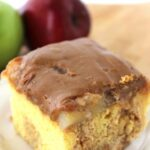 This Caramel Apple Poke Cake is a perfect autumn dessert recipe!