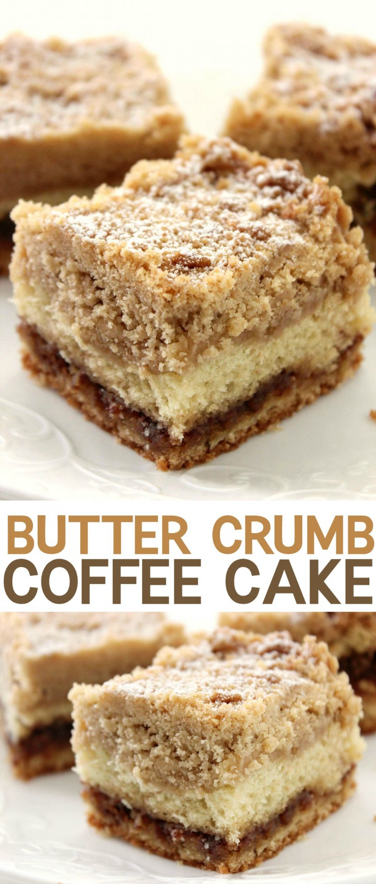 This Butter Crumb Coffee Cake is soft, fluffy, and tender with a generous crumb layer that is to die for.