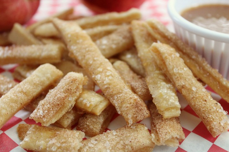 These Apple Pie Fries are a fun dessert that look like french fries but taste like apple pie!