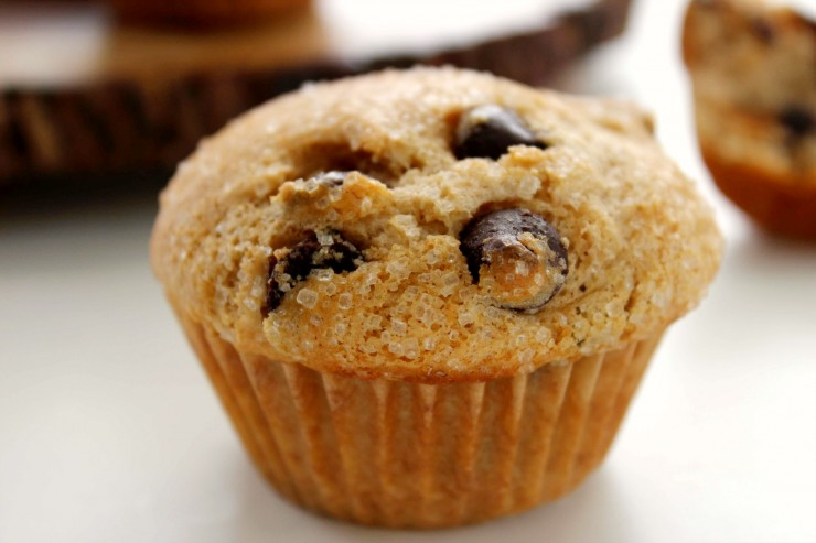 Try these Bakery Style Chocolate Chip Muffins with a mug of hot coffee ...