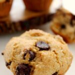 Try these Bakery Style Chocolate Chip Muffins with a mug of hot coffee for a delicious breakfast on the go!