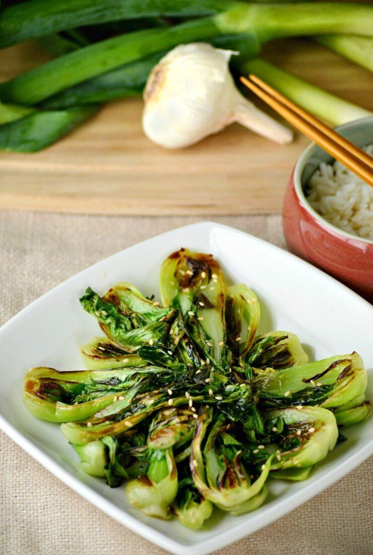 Braised Garlic Bok Choy