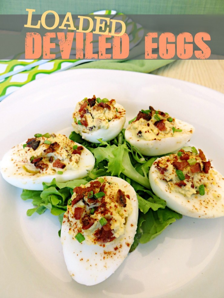 Loaded Deviled Eggs are one of our favourite appetizers. We love food and recipes with a twist and these sure are not your moms classic deviled eggs!