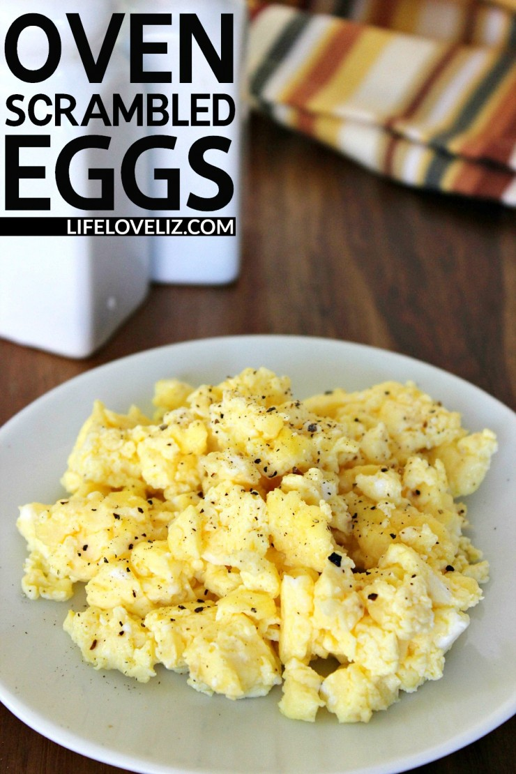 Oven Scrambled Eggs are a delicious and easy way to serve breakfast for a crowd!