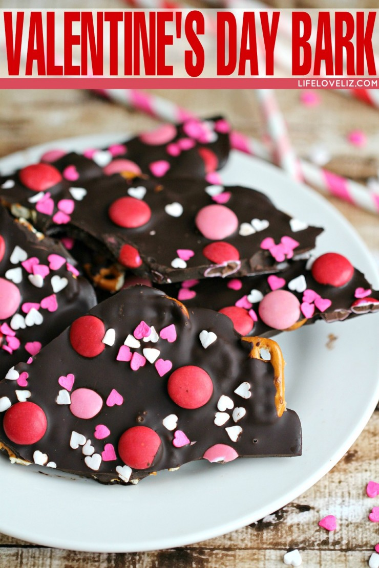 This Valentine's Day Bark is an adorable and quick to put together Valentine's Day Dessert Recipe!