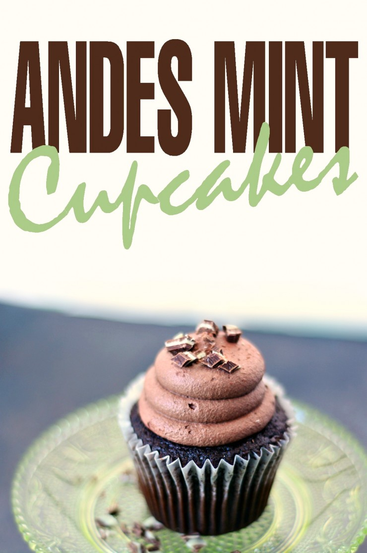 These Andes Mint Cupcakes are perfect for celebrating St. Patrick's Day with!  You will love the chocolate mint cupcakes full of so much flavor paired with a light and fluffy chocolate frosting.