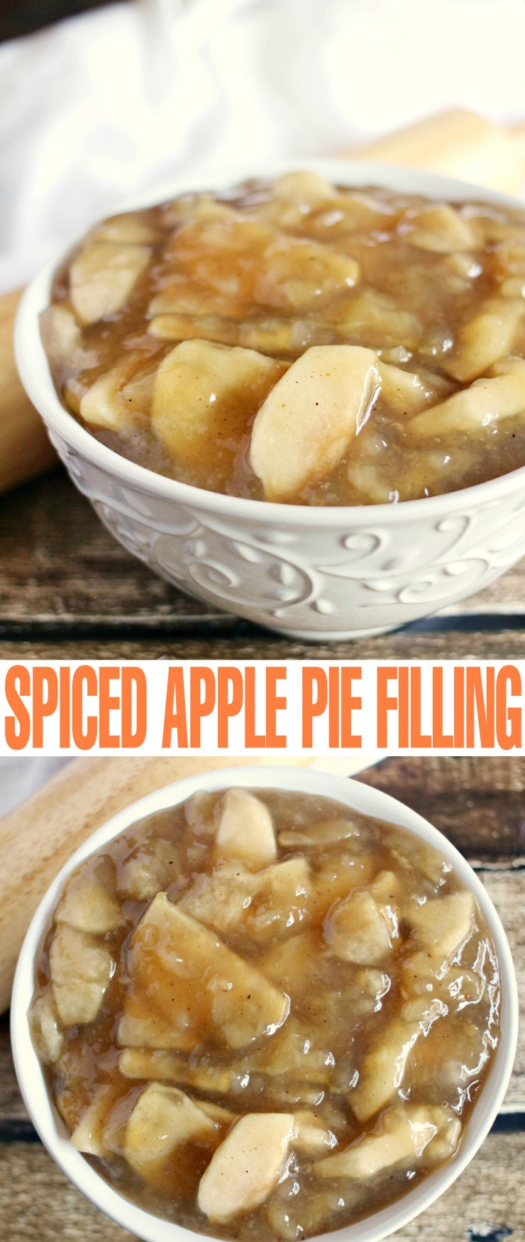 Spiced Apple Pie Filling is perfect for freezing and canning so you can make your favourite apple dessert recipe anytime in a breeze!
