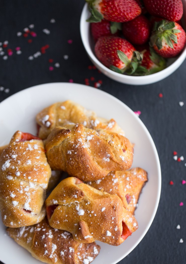 These strawberry rolls are an easy breakfast treat that can easily be dessert and made quickly enough to satisfy any sweet tooth!