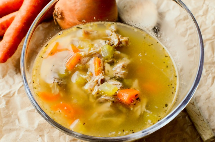 Turkey Neck Broth Slow Cooker