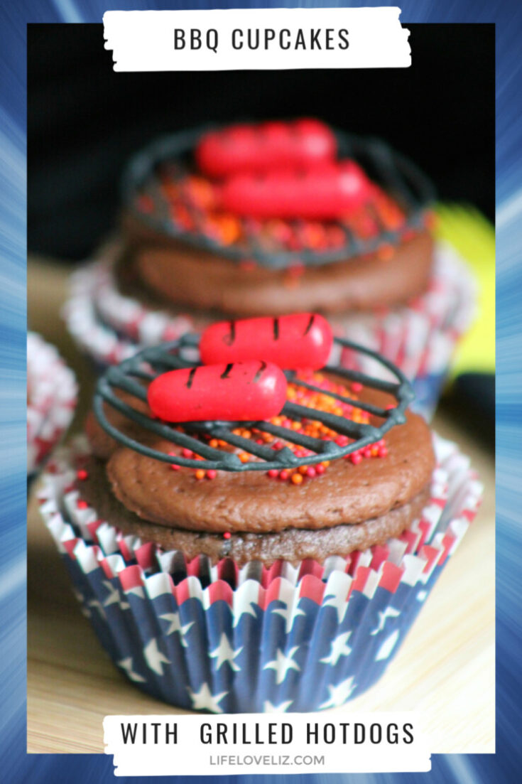 BBQ Cupcakes with Grilled Hot Dogs