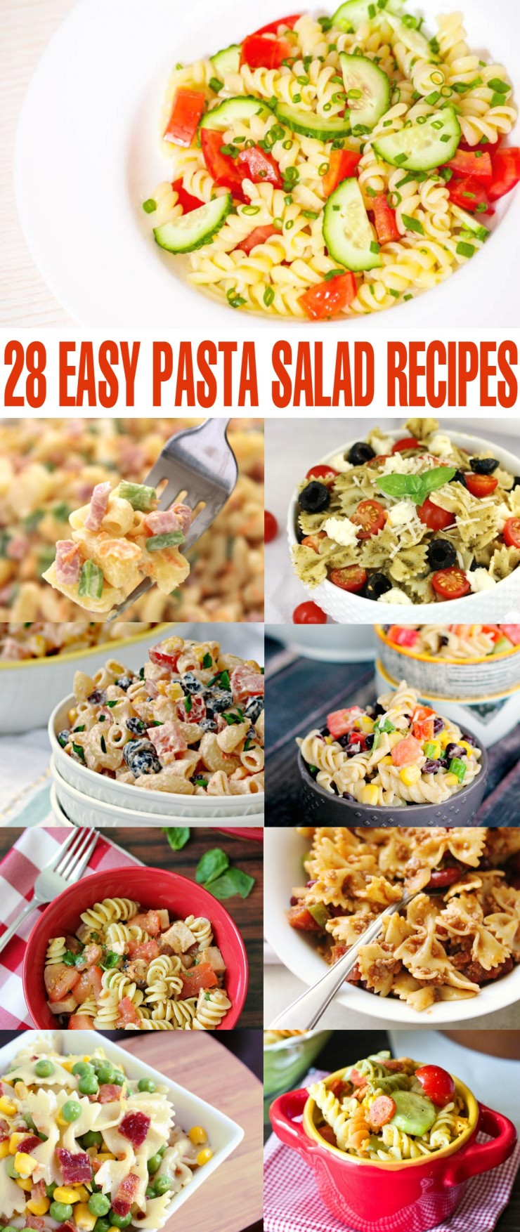 Pasta salad are perfect for pairing with your favorite main dishes for a perfect side dish with endless possibilities for new flavour combinations and ingredients. Here are some of my favourite quick and easy pasta salad recipes: