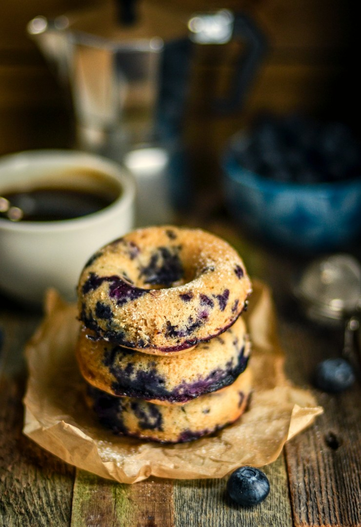 These Whole Wheat Baked Blueberry Doughnuts are delicious for breakfast with a hot mug of coffee. You will feel great knowing you are enjoying a healthier version of this classic favourite.