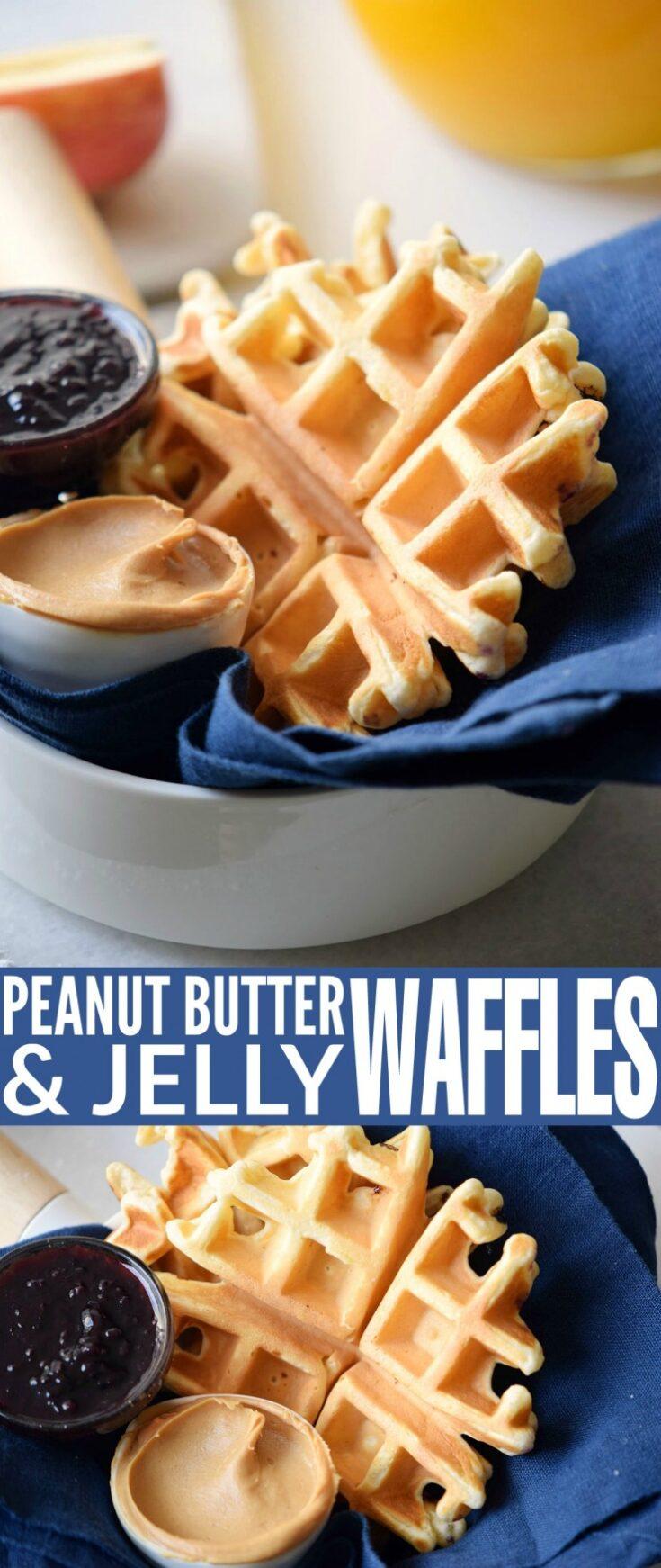 Peanut Butter Jelly Waffles