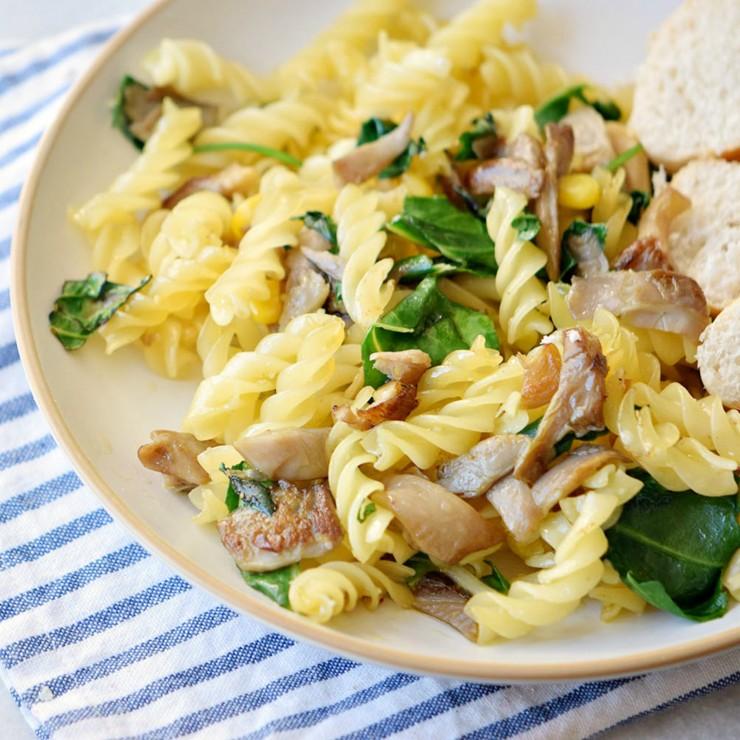 Mushroom & Basil Fusilli Pasta