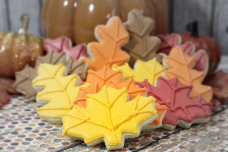 These autumn leaf cookies are almost too pretty to eat. Thankfully these sugar cookies are so delicious and full of flavour you won't feel bad for long!