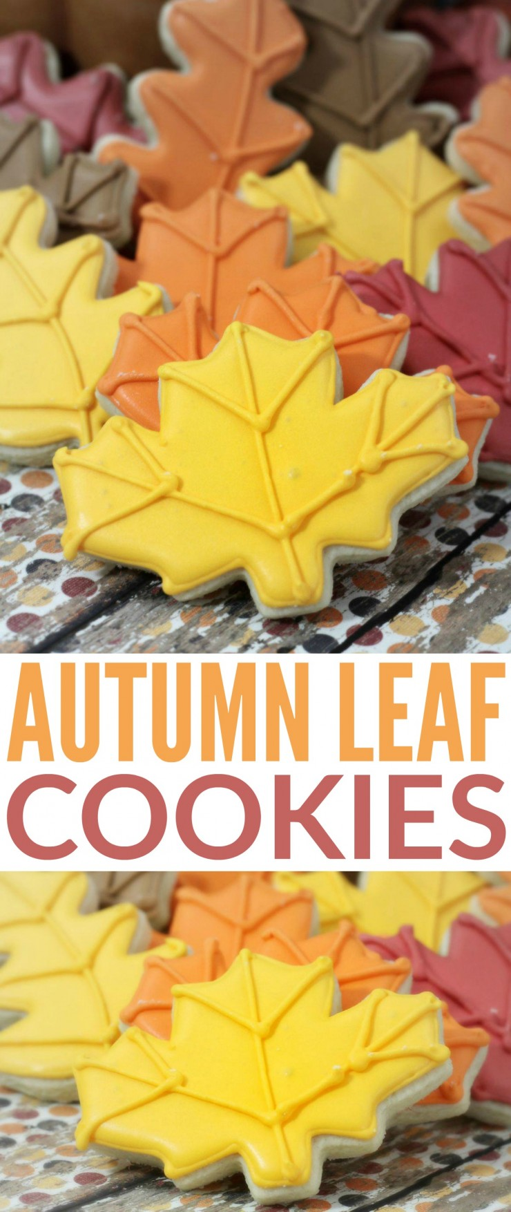 These autumn leaf cookies are almost too pretty to eat. Thankfully this sugar cookie recipe is so delicious and full of flavour you won't feel bad for long!