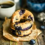 Whole Wheat Baked Blueberry Doughnuts