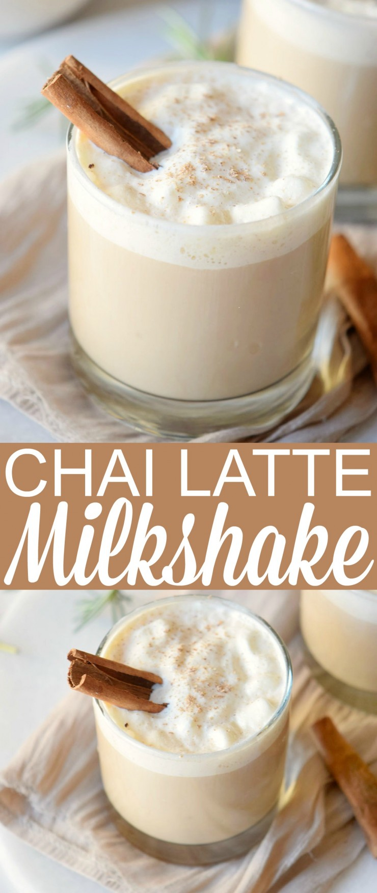 Enjoy a fall favourite in the form of a cool drink you just won't be able to get enough of. This Chai Latte Milkshake is creamy, cool and full of warm spices.