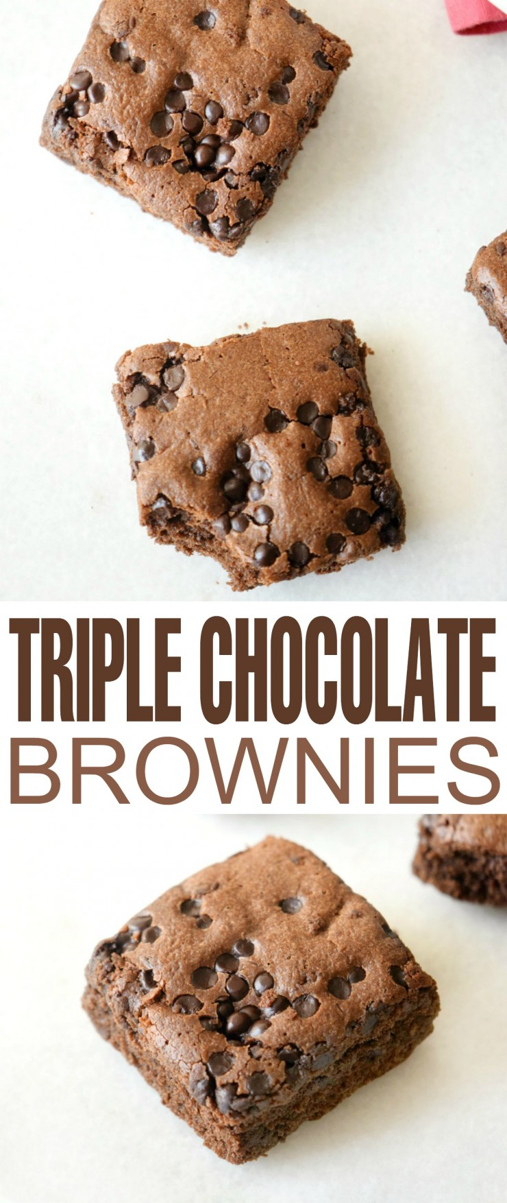 This Triple Chocolate Brownie recipe is perfect for any chocolate lover. Rich and full of flavour, this is a perfect dessert!