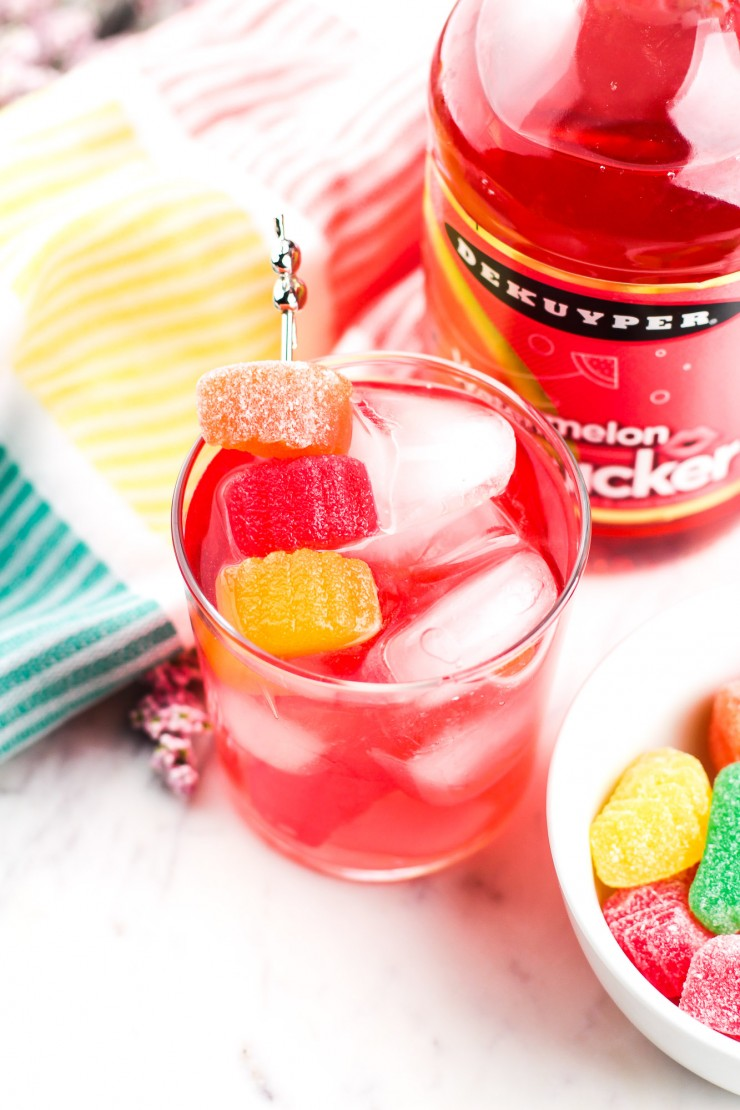 Do you love candy? Like, really love candy? Well then you're really going to love this Candy Kiss Cocktail - an epic candy-inspired cocktail for the sweet tooth.