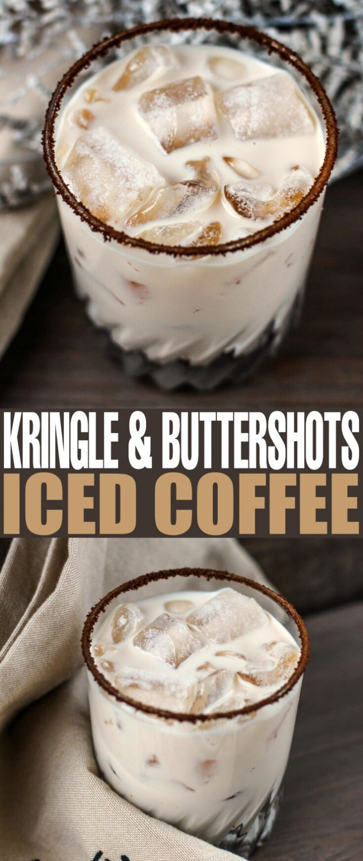 Kringle and Buttershots Iced Coffee