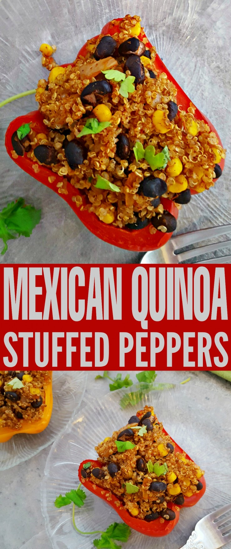 This recipe for Mexican Quinoa Stuffed Peppers is full of flavour and makes for a healthy family meal. This is a great Mexican inspired dish.