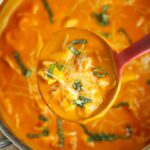 Roasted Red Pepper Soup with Tortellini