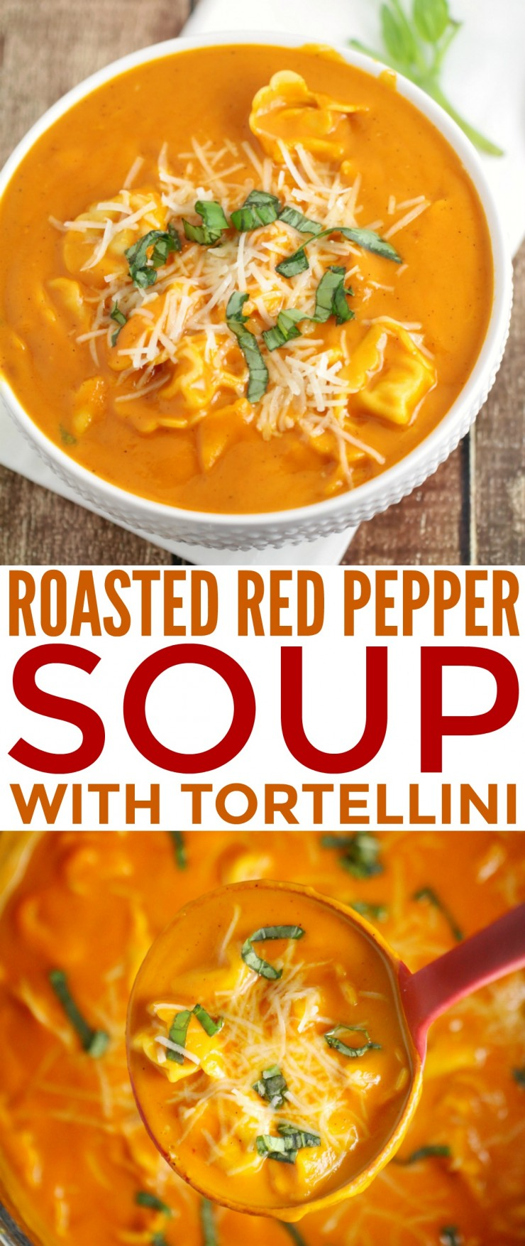 I love a delicious and comforting soup like this recipe for Roasted Red Pepper Soup with Tortellini. Freshly roasted bell peppers and garlic create an amazing savoury flavour your whole family is sure to love.