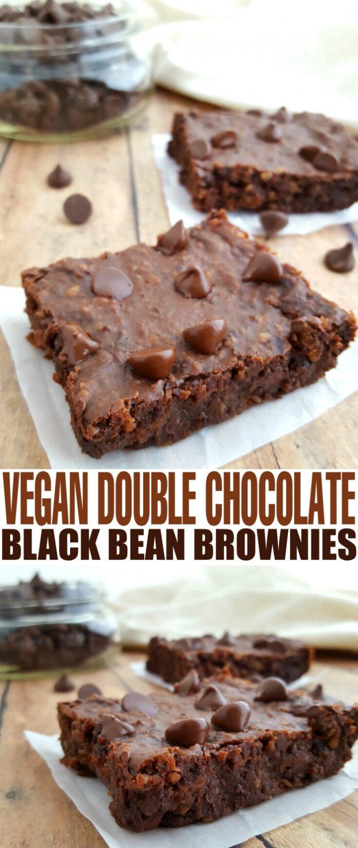 Vegan Double Chocolate Black Bean Brownies