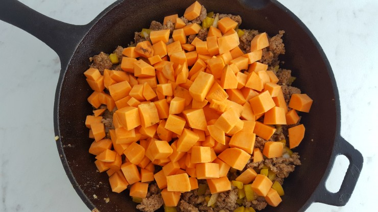 Add Diced Sweet Potato And Water Stir Cover With A Lid For Approximately 6 8 Minutes Until The Potatoes Soften Additional During This