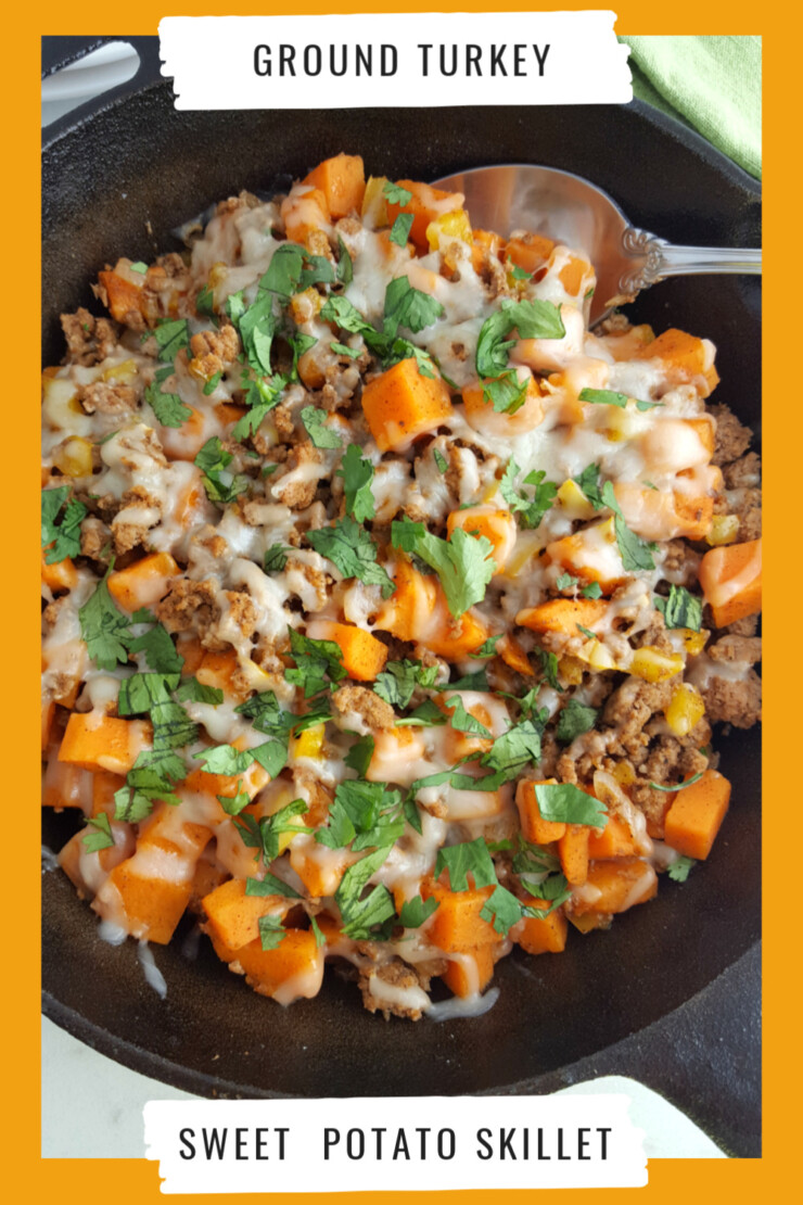 This Ground Turkey Sweet Potato Skillet is a healthy, flavourful gluten-free meal that can be made in one pot for your whole family to enjoy!