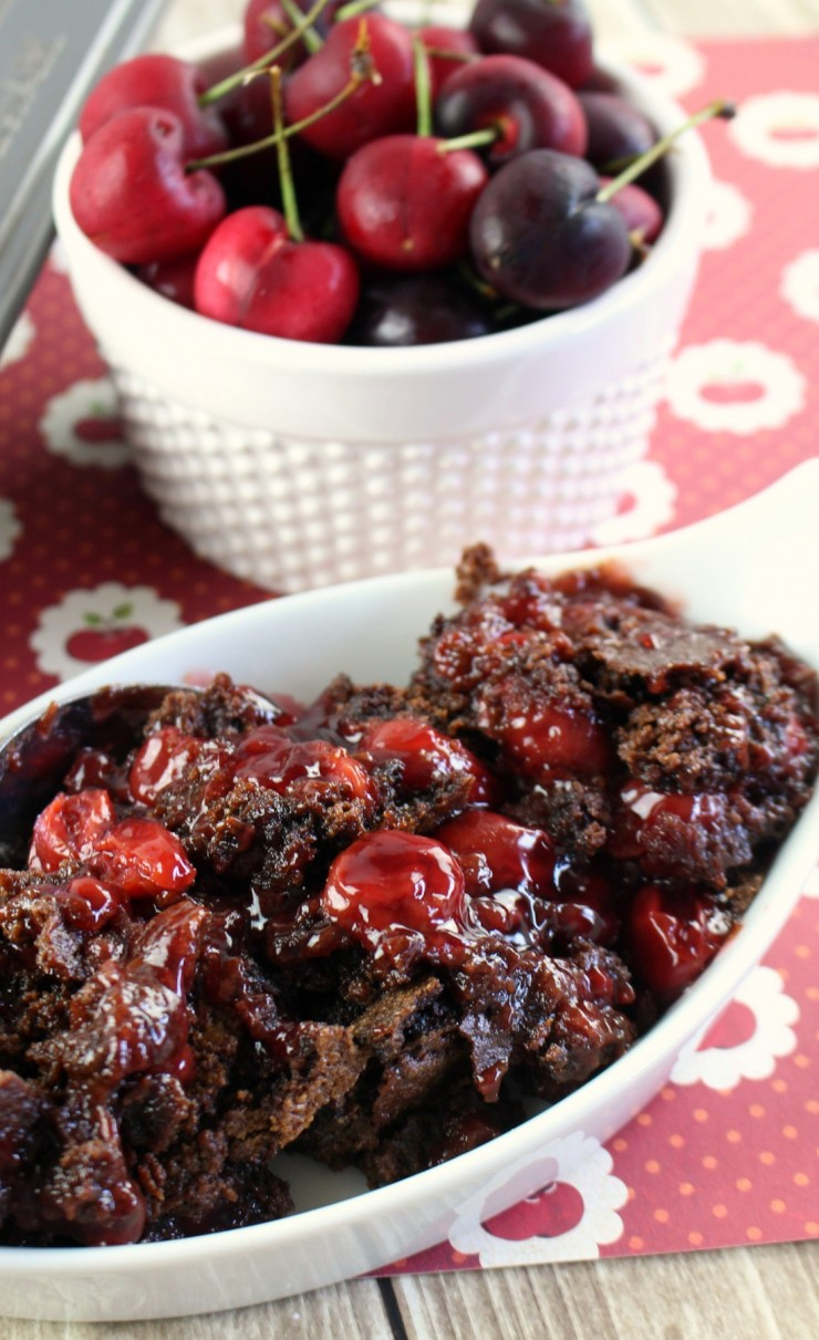 Chocolate Cherry Dump Cake - Life Love Liz