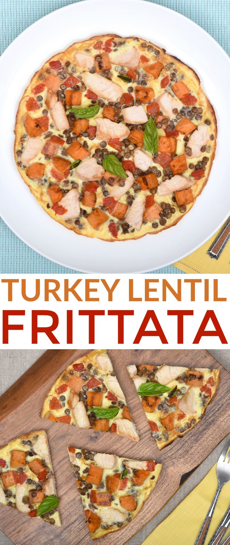 Protein-Packed Turkey Lentil Frittata is a healthy meal the whole family will enjoy for breakfast, lunch or dinner.