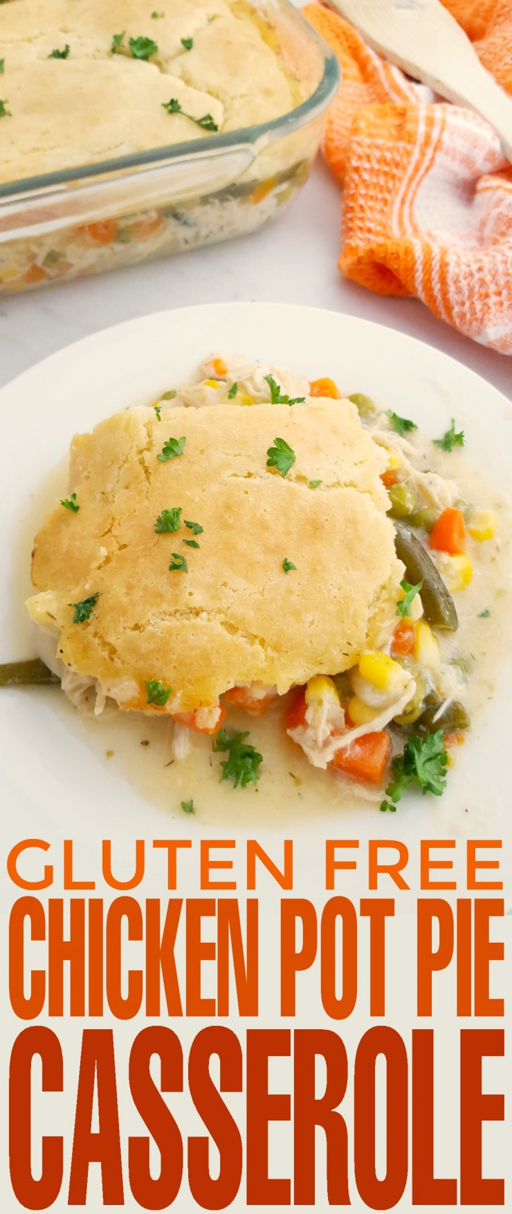 This Gluten Free Chicken Pot Pie Casserole recipe is a delicious gluten free version of a family favourite. Perfect for serving anyone who cannot eat gluten, it can be enjoyed by all.