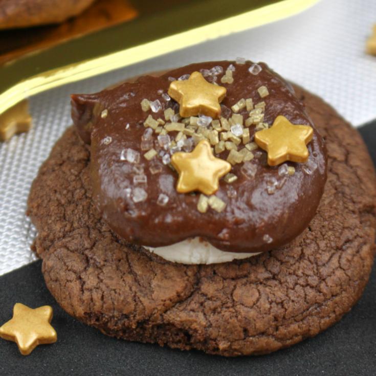 Triple Chocolate Marshmallow Cookies