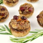 Cranberry Pecan Stuffed Mushrooms with Goat Cheese