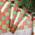 Snowmen Pretzel Rods