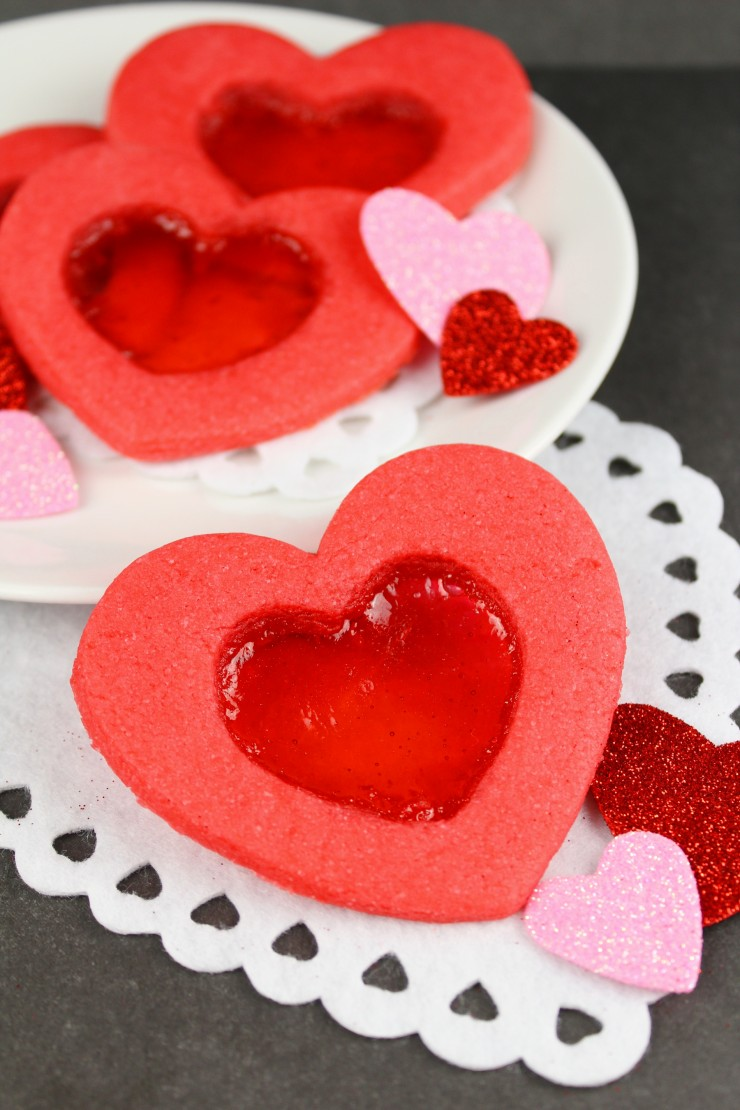 These Stained Glass Heart Cookies are a fun Valentine's day cookie that are as easy to make as they are fun to eat. These cookies are an adorable heart-shaped treat!