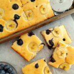 Sheet Pan Blueberry Banana Pancakes