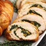 Today I am sharing with you my recipe for apricot and brie stuffed turkey breast. This turkey recipe is easy to prepare but has such a stunning presentation that it can easily go from weekday meal to a dinner party show stopper.