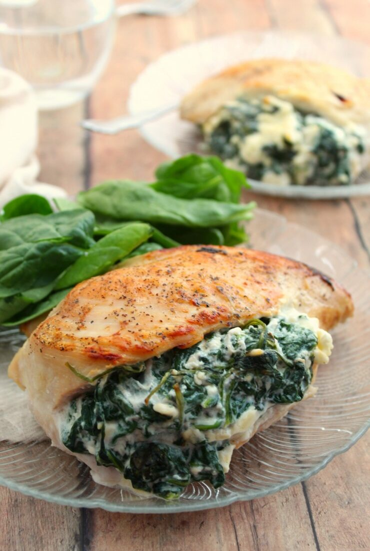 Spinach & Feta Stuffed Chicken