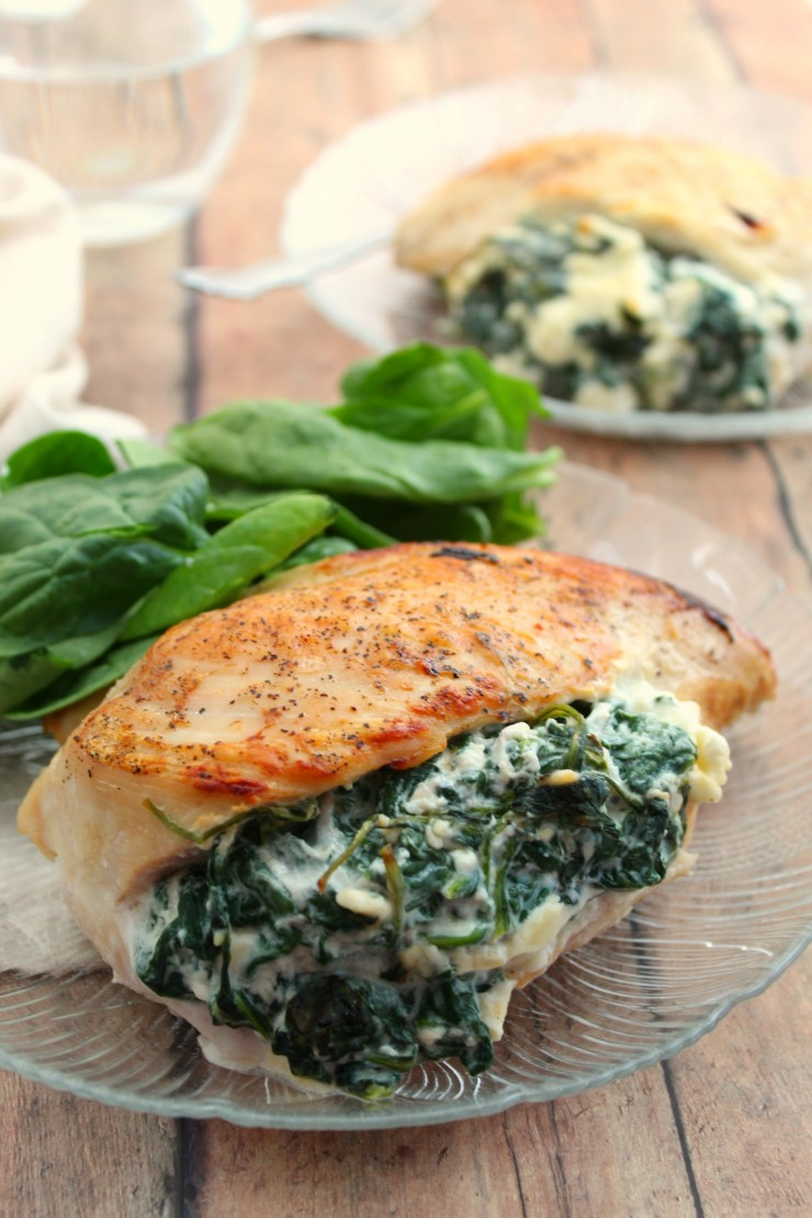 This Spinach & Feta Stuffed Chicken is an easy weeknight meal that looks and tastes anything but. It's a no-fuss chicken dinner recipe that is sure to be a hit!