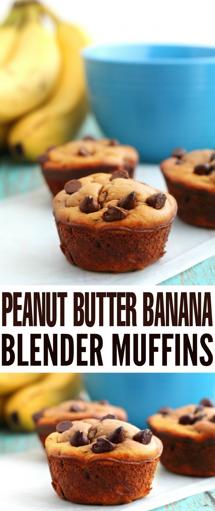These Grain Free Peanut Butter Banana Blender Muffins are an easy and healthy breakfast option the whole family can enjoy.