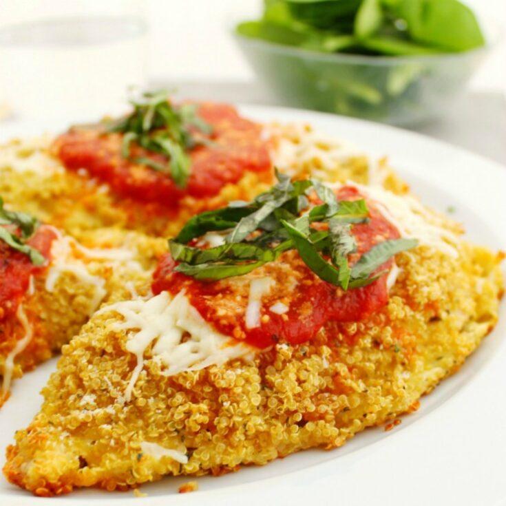 Gluten Free Quinoa Chicken Parmesan